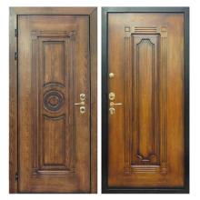 Входная металлическая дверь MD-012 (отделка массивом дуба снаружи и внутри)