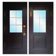 Парадная входная металлическая дверь PD-001 (МДФ + стеклопакет)