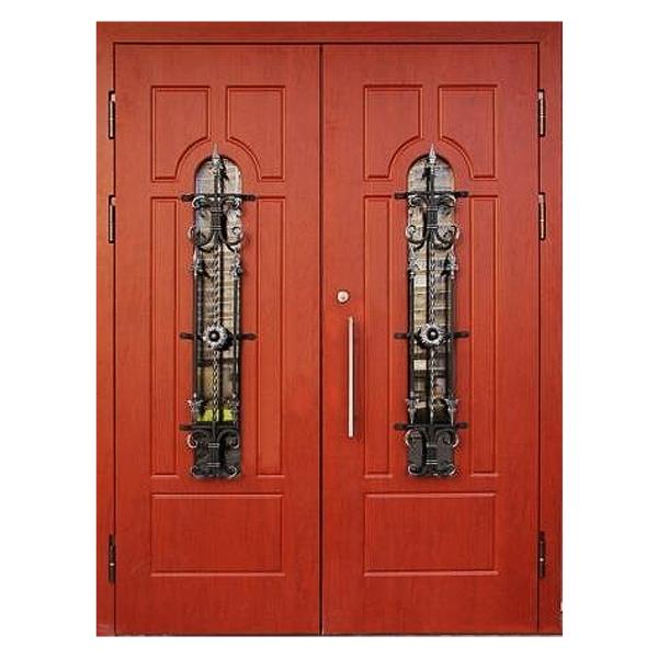 Парадная входная металлическая дверь PD-006 (массив дуба снаружи и внутри)