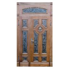 Парадная входная металлическая дверь PD-008 (массив дуба снаружи и внутри)