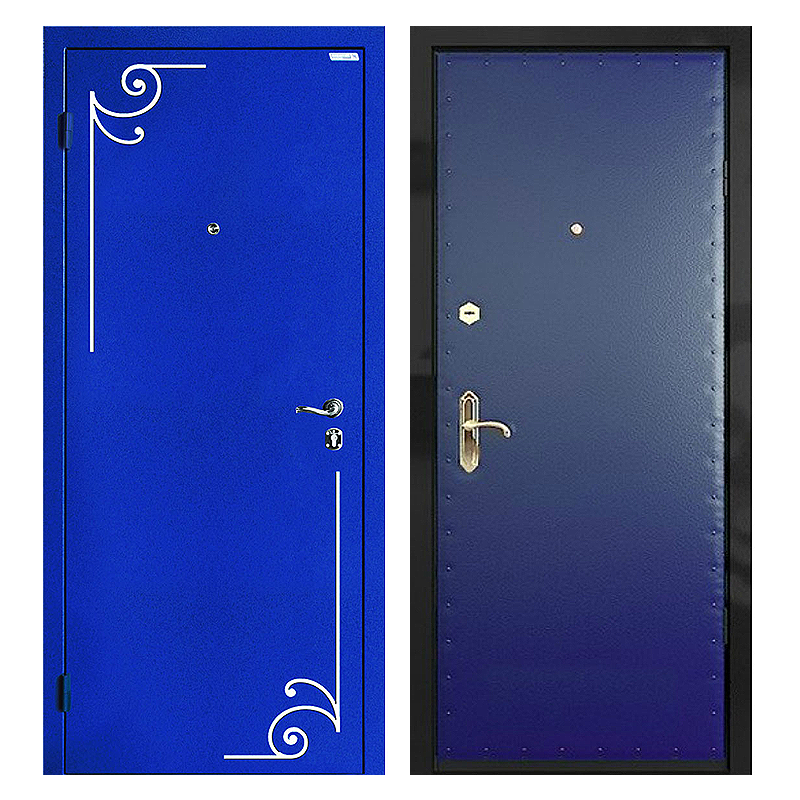 Входная металлическая дверь PVК-001 (порошковое напыление с ковкой + винилискожа)