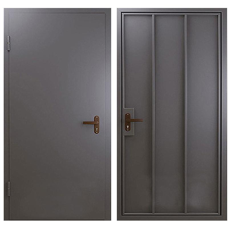 Техническая металлическая дверь TD-001 (нитроэмаль снаружи и внутри)