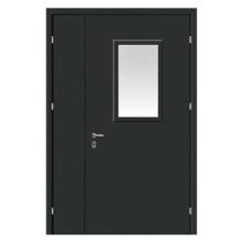 Техническая металлическая дверь TD-008 (нитроэмаль + стеклопакет)